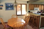 Sunrise 6 Mammoth Condo Rental- Dining Room Seats 4 with Additional Seating at the Bar